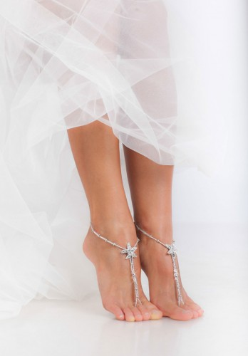 Asteria stunning Beaded barefoot sandals