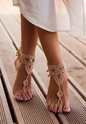 Camilla Champagne Barefoot Sandals