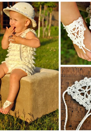 Paloma Crochet Baby Barefoot Sandals