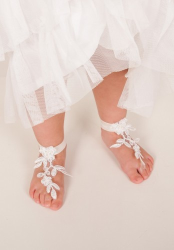 Baby Lace barefoot sandles