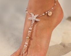 Antigua Rose Gold barefoot sandals