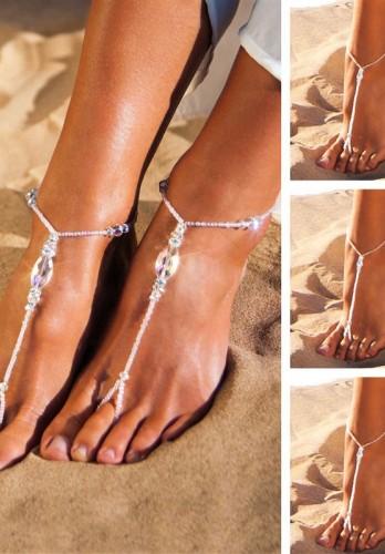 Wedding party set Rhinestone barefoot sandal