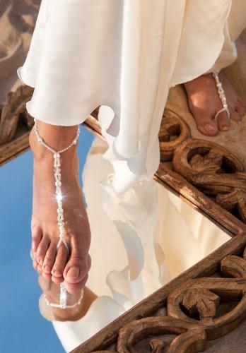 Swarovski barefoot sandals