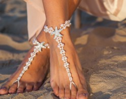 Blush starfish feet jewelry