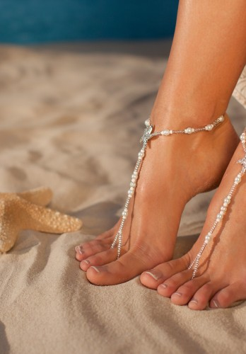 Bermuda Beach wedding barefoot sandals