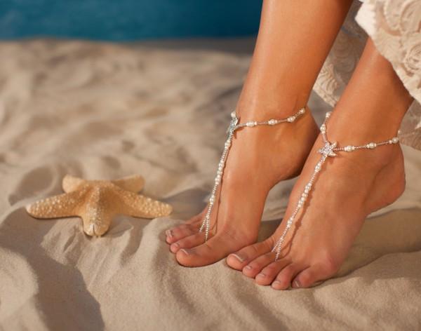 Bermuda Beach wedding barefoot sandals