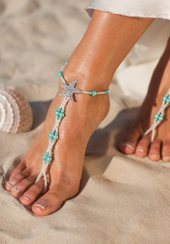 Maldives alluring barefoot sandals in blue