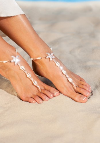 Maldives alluring barefoot sandals in white