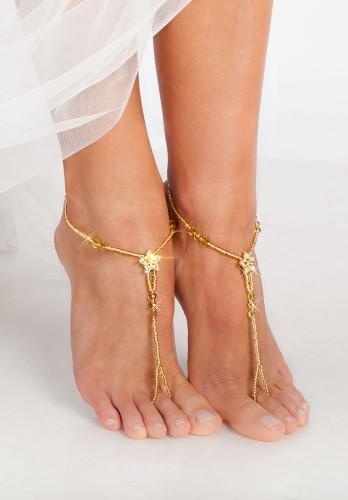 Gold stardust Barefoot sandals