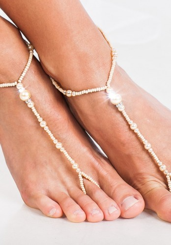 Jayla beaded barefoot sandals