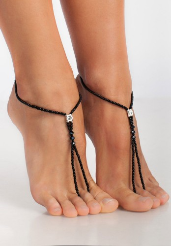 Dainty Beaded Barefoot sandals