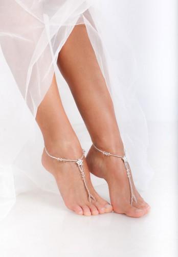 Stardust Silver Barefoot sandals