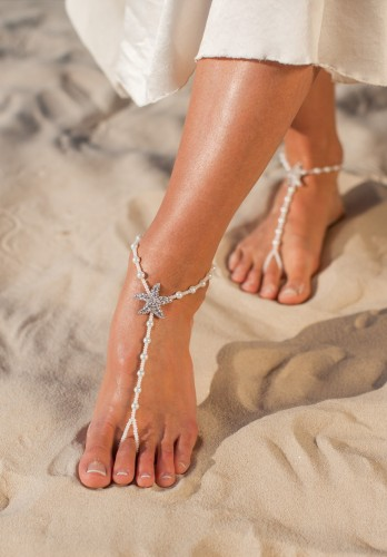 Fiji Beach wedding barefoot sandals