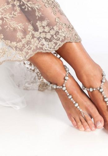 Ornate Filigree Wedding Barefoot Sandals