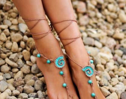 Turquoise gemstone Anklet