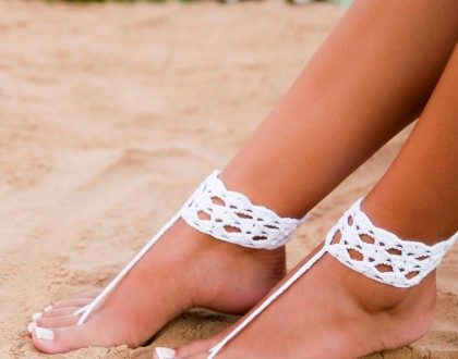 Foot jewelry Footless sandals