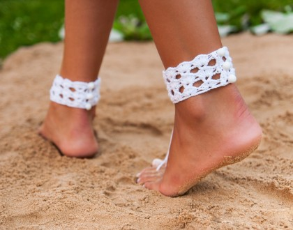 Anklet Beach wedding barefoot sandals