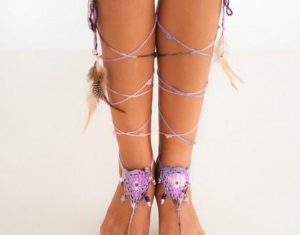 Tribal Crochet Foot Jewelry
