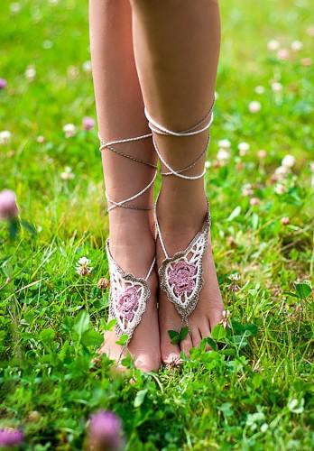 Paisley Crochet Barefoot sandals