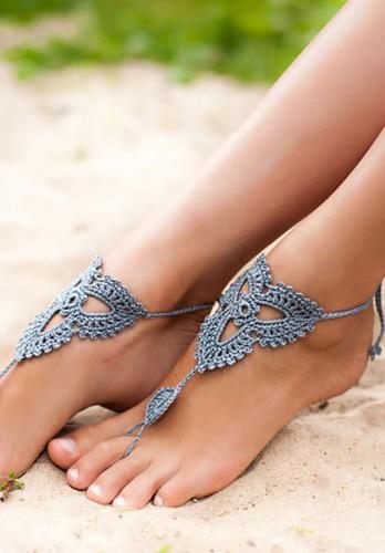 Lotus Grey Barefoot Sandals
