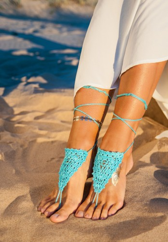 Turquoise Barefoot Sandal