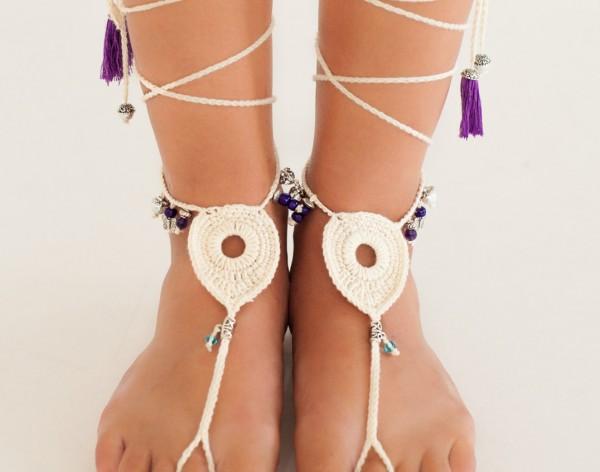 Amethyst Bohemian Barefoot sandals