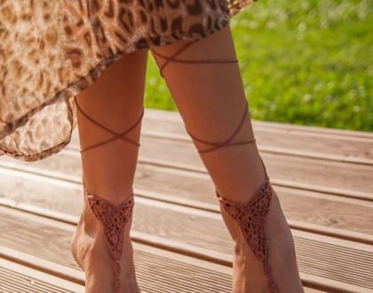 Yoga footless sandles