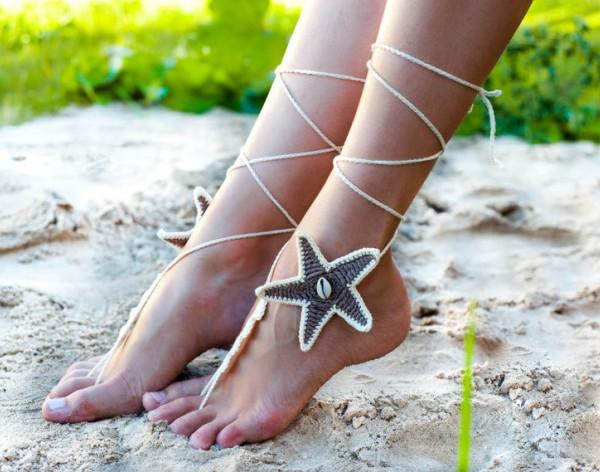 Beach wedding Starfish Seashells