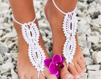 Emily Crochet Barefoot Sandals