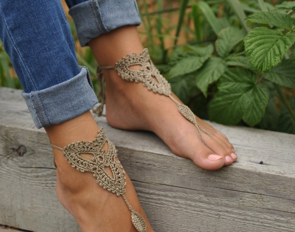 Lotus Tan Barefoot Sandals