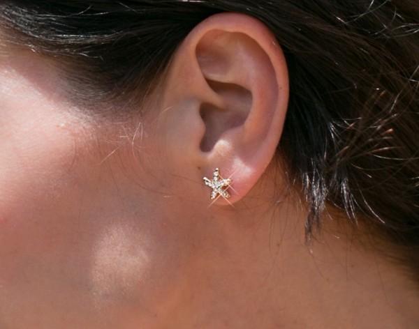 Minimalist Starfish earrings