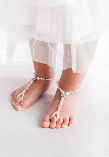 Liana Flower girl barefoot sandals