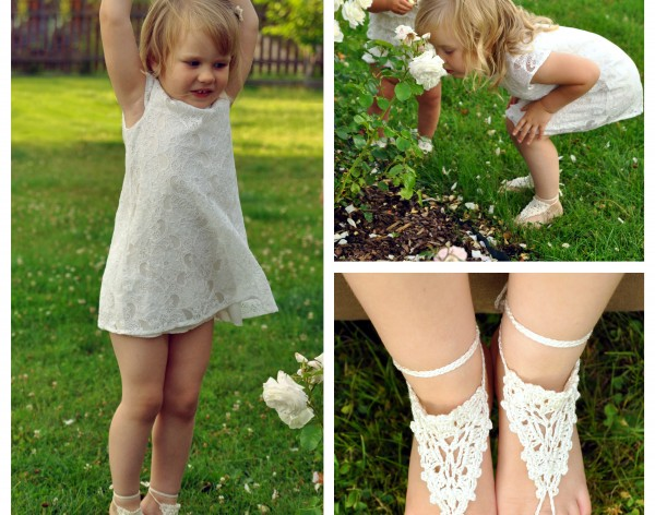 Paloma Crochet Toddler Barefoot Sandals