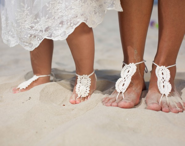 Mommy and me barefoot sandals