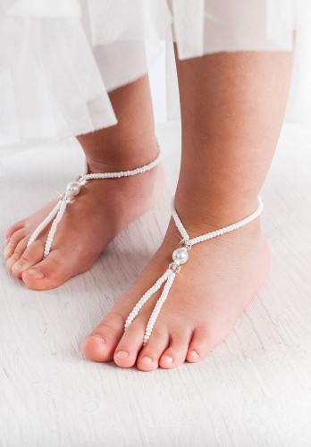 Oriana Flower girl barefoot sandals