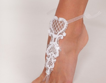 Bridal footless sandals