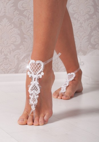 Giselle Lace barefoot sandals