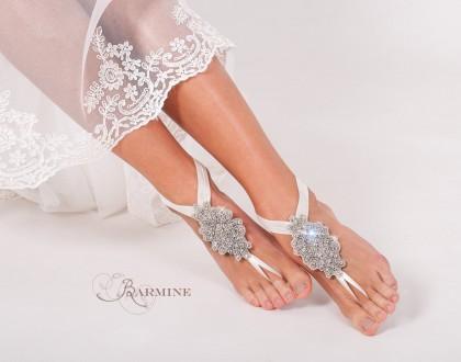 Bridal barefoot sandals