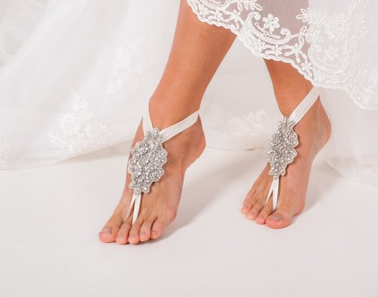 Crystal foot jewelry