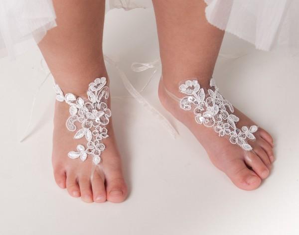 Toddler footless sandles