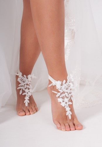 Laurel Lace barefoot sandals