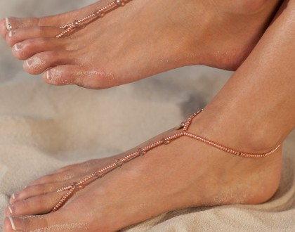 Seashell Barefoot sandles