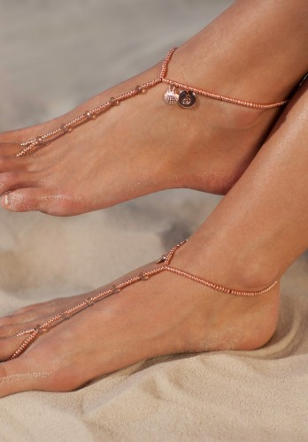 Seashelles Rose Gold Barefoot sandals