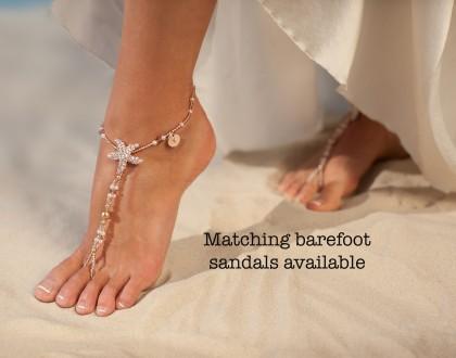 Matching barefoot sandals