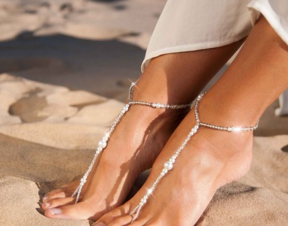 Pearl foot jewelry